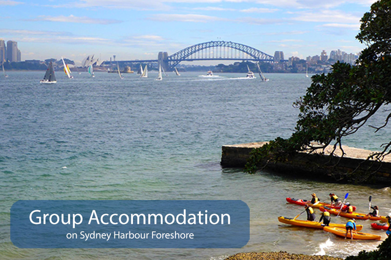 school and group accommodation on Sydney Harbour