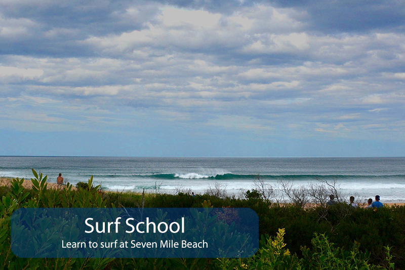 south coast surf school. learn to surf at seven mile beach
