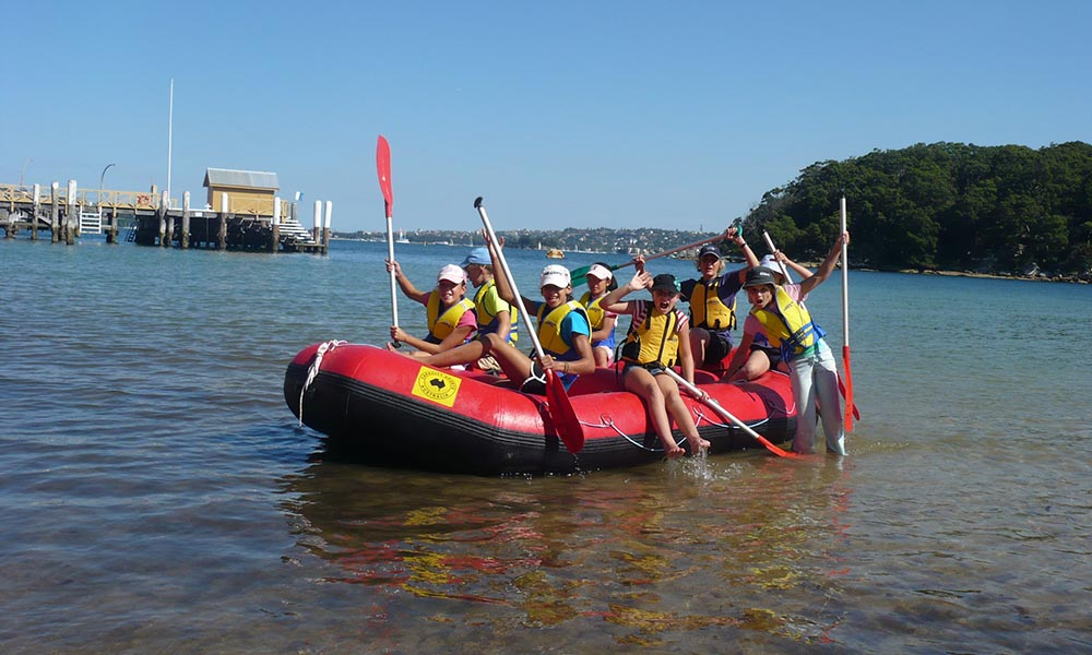 Outdoor education programs on sydney harbour